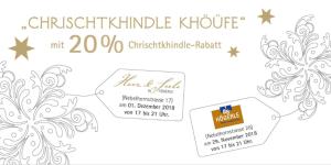 Chrischtkhindle Khöüfe 2018