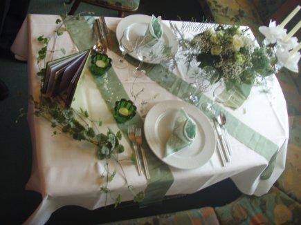 Dekoration auf dem Tisch