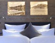 Deluxe-Doppelzimmer Kopfteil Bett