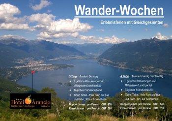 Wanderwochen im Hotel Arancio, Ascona