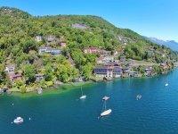 Das Hotel Arancio in Ascona vom See aus