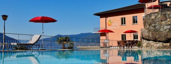 Hotel mit Pool am Lago Maggiore