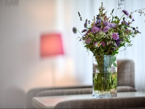 Blumen in der Juniorsuite