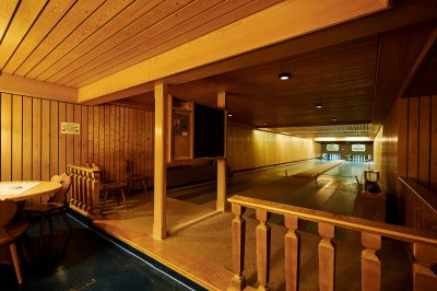 Kegelbahn im Hotel Bannwaldsee