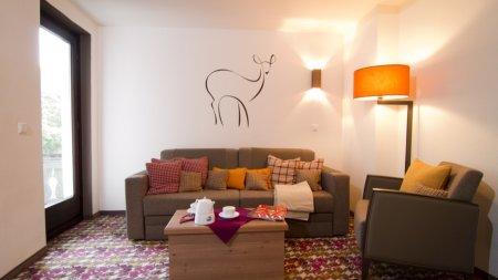 Sofa-Ecke in der Suite