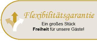 Störer Flexibilitätsgarantie