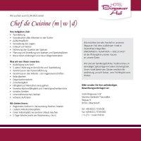 Chef de Cuisine Birgsauer Hof