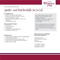 Spüler und Küchenhilfe Birgsauer Hof