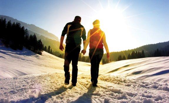 Spaziergang durch die Winterlandschaft