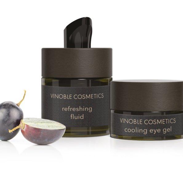 Refreshing fluid+eye gel-traube