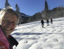 Schneeschuhwanderung Claudia