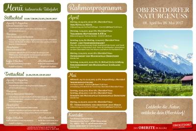 Programm Naturgenuss Frühling 2017