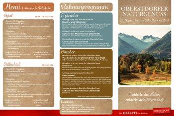 Programm Naturgenuss Herbst 2017