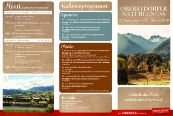 Programm Naturgenuss Herbst 2018