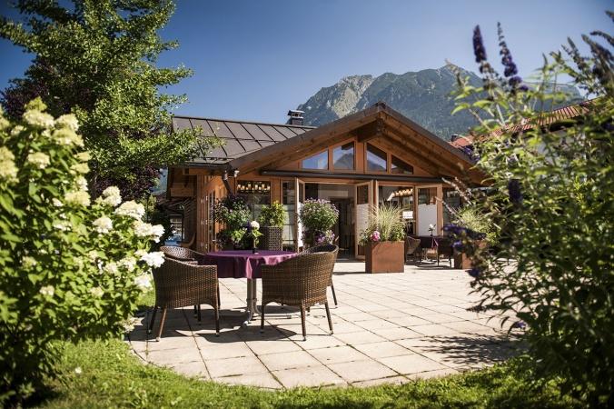 Chalet Oberstdorf Außenbereich im Sommer