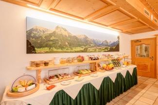Frühstücksbuffet im Hotel Rubihaus garni in Oberstdorf