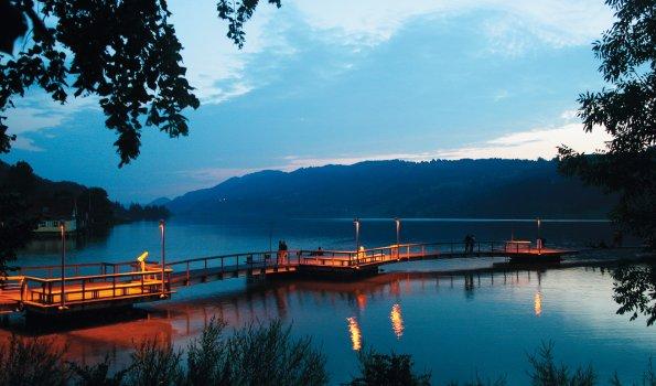Alpsee-Promenade bei Abendstimmung