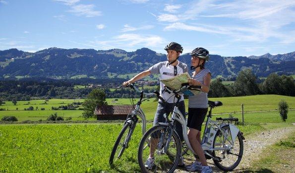Radfahren und E-Biken im Oberallgäu