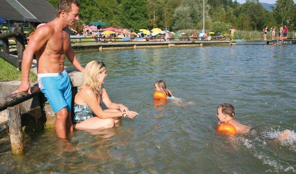 Wasserspaß im Freibad Kleiner Alpsee
