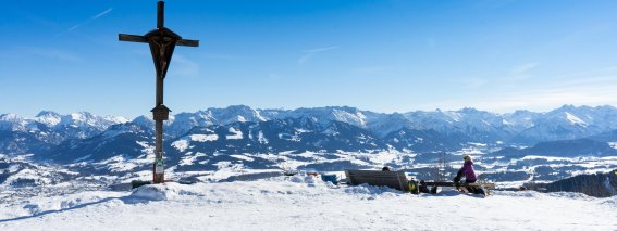 Gipfelblick vom Hausberg Mittag bei Immenstadt