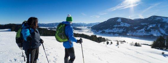 Schneeschuhwandern oberhalb vom Alpsee