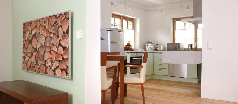 Blick in die große Küche