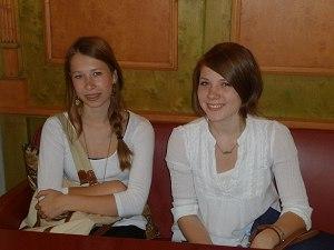 Adriana und Alina im Hotel Mohren