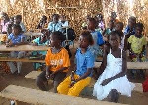 Ein Klassenzimmer im Senegal