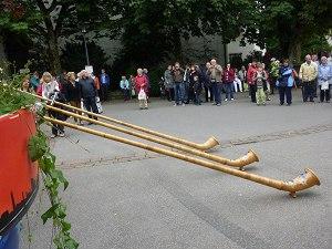 Ein Alphornkonzert am Markptplatz