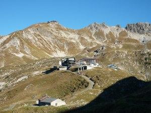 Blick auf das herbstliche Nebelhorn