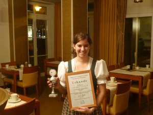Johanna erreichte den 3. Platz
