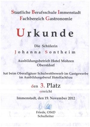 Johanna's Urkunde