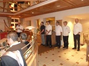 Die Küchenmannschaft des Hotel Mohren