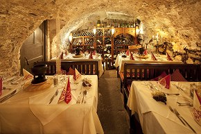 the ancient Mohren wine-cellar