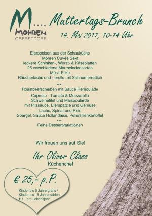 Muttertags-Brunch am 14. Mai 2017