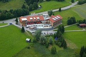 Das Hotel Oberstdorf aus der Vogelperspektive