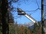 Heini-Klopfer-Skiflugschanze im Oktober