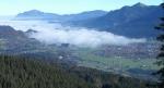 Blick über Oberstdorf im Morgennebel
