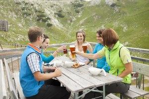 Wanderbrotzeit auf dem Nebelhorn