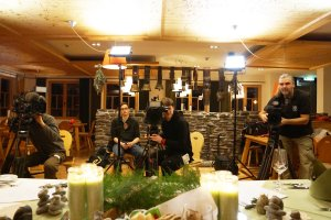 Dreharbeiten im Hotel Oberstdorf