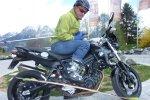 Von der Piste direkt auf's Motorrad!