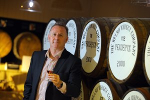 Stephen Davis at Penderyn Distillery