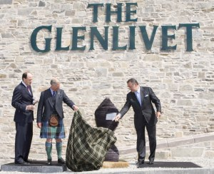 Prince Charles at The Glenlivet Distillery