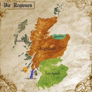 Schottland Whisky Regionen