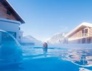 beheizter Außen-Solo-Pool im Winter