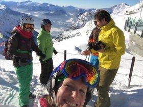 Nach der Pause geht's wieder auf die Ski