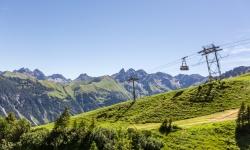 Grandioser Ausblick vom Schlappoldsee auf die Fellhornbahn