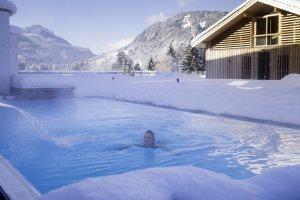 Badevergnügen im Winter