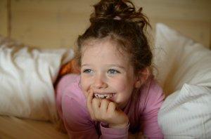 Glückliche Kinderaugen im Hotel Oberstdorf