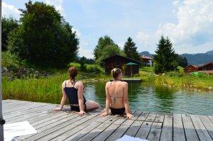 Naturbadesee mit Ausblick